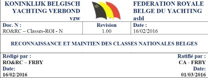 reconnaissance et maintien des classes nationales belges