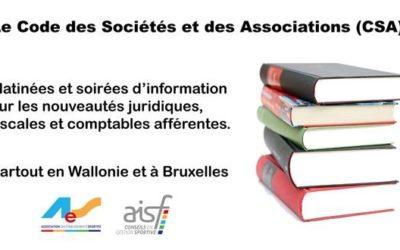 Le code des sociétés et des associations change !