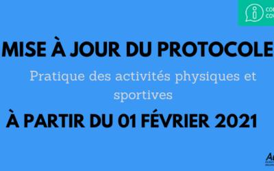 Protocole Activités physiques et sportives – 1er février 2021